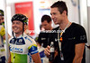Matthew Wilson and Simon Gerrans are all smiles after winning yesterday's stage...