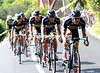 Saxo-Tinkoff have suddenly attacked, five of them - led by Mick Rogers, and both Cavendish and Sagan are in there too..!