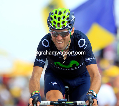 """Alejandro Vaklverde has lost a whopping 2' 32"""", his motivation shot to pieces after the shock of stage 13..."""