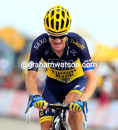 "Michael Rogers will finish 12th today, 2' 26"" down after working hard for Contador..."