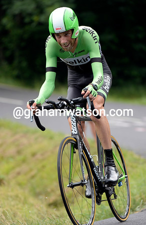 """Laurens Ten Dam took 16th at 2' 29"""" after a collision with some spectators..."""