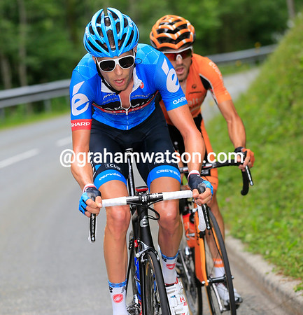Ryder Hesjedal and Jon Izagirre have moved ahead of the big escape and made a smaller one for themselves...