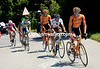 Igor Anton lead Riblon, Astarloza, Clarke, Gauthier and Brutt in pursuit...