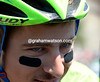 Peter Sagan has a devillish look to him at the start...