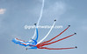 French air-force jets start the celebrations for the 100th Tour de France in Porto Vecchio...