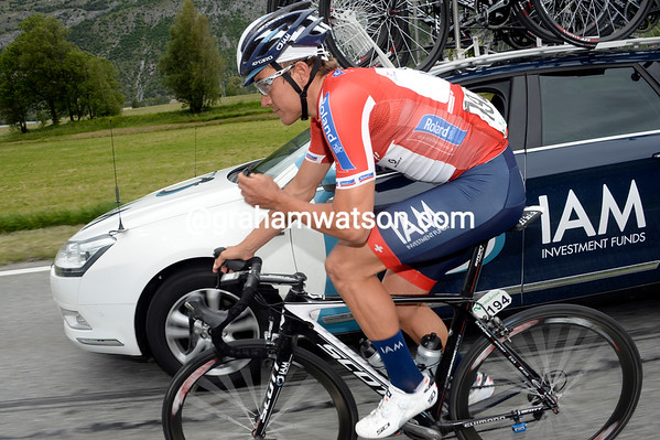 Heinrich Haussler is here to make a big impression for his IAM team, also based in Switzerland...
