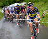 Nicholas Roche tries to speed up and split the chasing group for Kreuziger...
