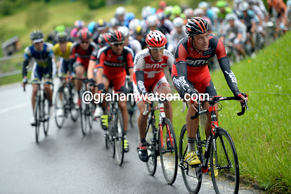 BMC and Marcus Burghardt lead the chase at less than two-minutes now...
