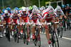 Katusha lead the charge after Hollenstein is caught...