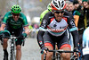 Fabian Cancellara has attacked on the Kwaremont - only Sagan and Turgot can stay with him...