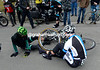 Sep Van Marcke has crashed on the Valkenburg with Rasche and a Europcar rider...