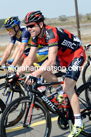 Cadel Evans is all smiles in his first race since last August..!