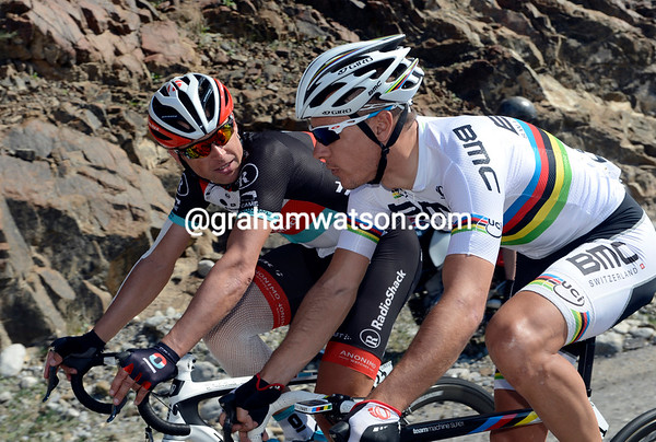 Philippe Gilbert and Stijn Devolder know each other very well, but they're both newcomers to the Tour of Oman...