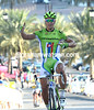 Peter Sagan wins stage 2 after attacking on the long descent and uphill approach to the finish...
