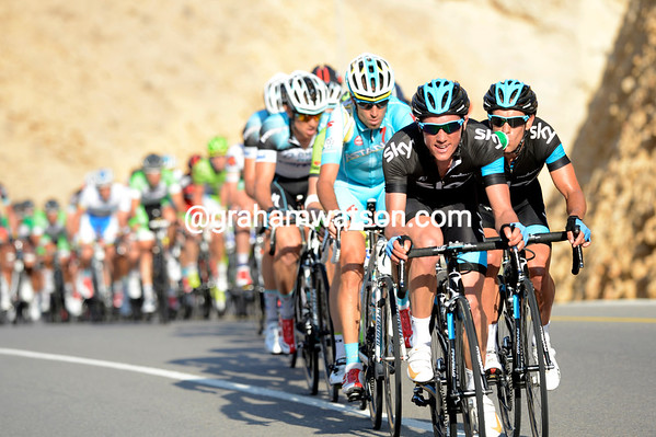 Kennaugh is leading again as the hill begins - is Froome about to attack..?