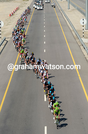 The power of Cannondale and Sky can be seen in this overhead shot of the chase...
