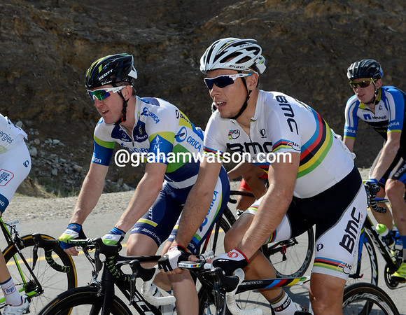 Philippe Gilbert and Matthew Goss must fancy their chances in today's short-hill finish...