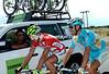Vincenzo Nibali comes back to see his ex-Liquias colleagues, Peter Sagan and Alberto Volpi...