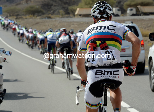 When a World Champion has to fetch bottles, you know this is a very serious stage...