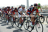 Taylor Phinney leads a BMC train up the peloton, they have Cadel Evans to consider in the finale...