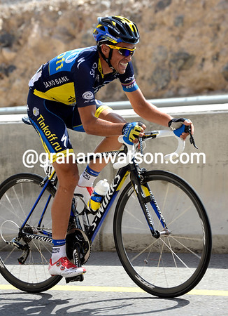 The Contador of old is not there any more, today's Contador is suffering to stay away..!