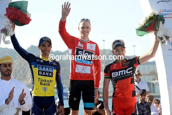 Chris Froome celebrates a significant victory against both Alberto Contador and Cadel Evans..!
