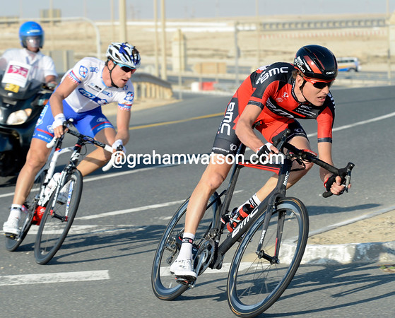 Michael Schar has attacked from the front group with Dominic Rollin...