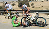 Steve Chainel survives a fall by Sacha Modolo...