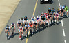 The Cancellara-Boasson Hagen group is starting to close with 25-kilometres left - as is Cavendish's too...