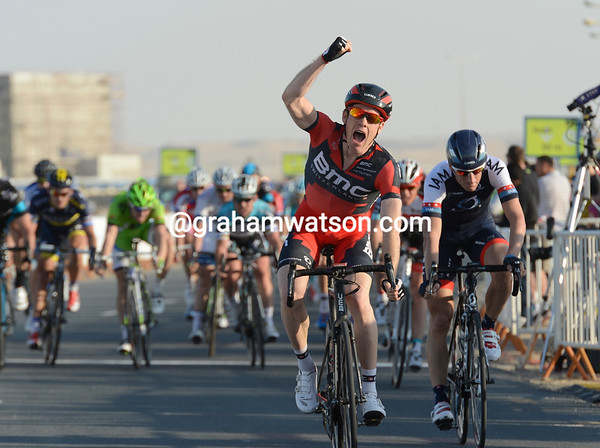 Brent Bookwalter wins stage one ahead of Elmiger, Rast, Eisel, Viviani and Cavendish - and takes the race-lead too..!