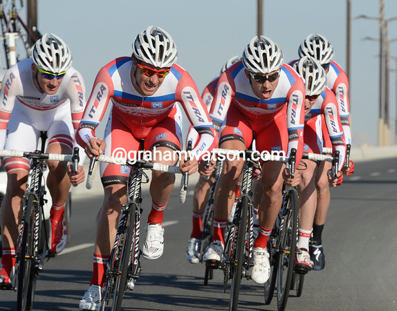 The Katusha team took 5th place, 15-seconds down...