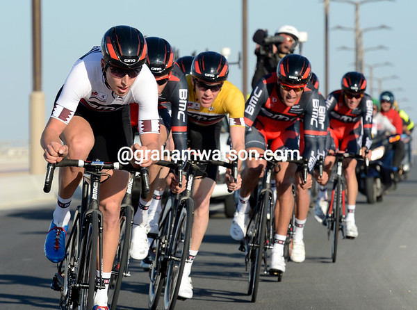 Taylor Phinney led BMC to victory today...