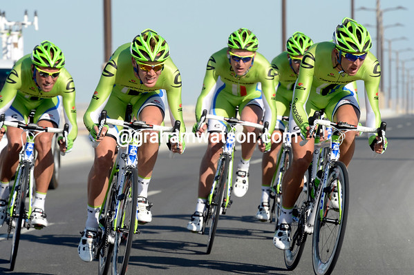 The Cannondale team took 9th place, 24-seconds down...