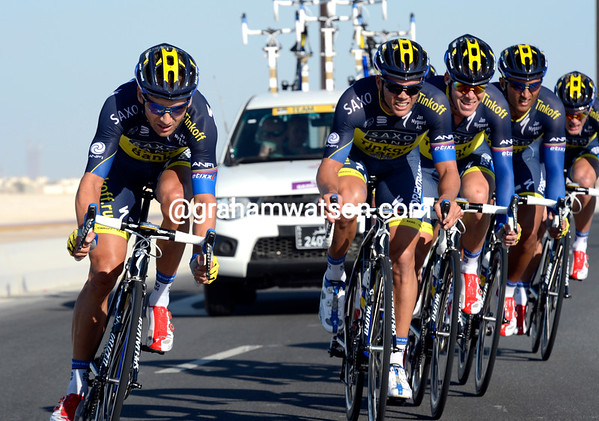 The Saxo-Tinkoff team took 10th, 26-seconds down...
