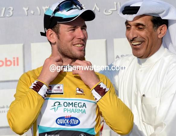 Mark Cavendish becomes the new race-leader of the Tour of Qatar..!