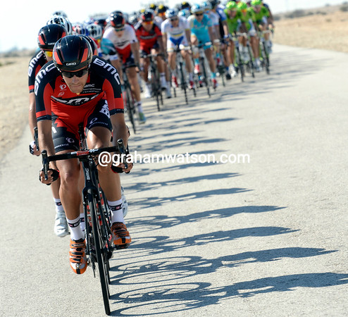 BMC is doing all the chasing, led here by Lawrence Warbasse...