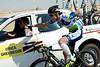 Fumiyuki Beppu may be injured from yesterday's crash, but he's still fetching water bottles...