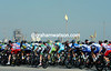 The peloton starts the last stage near Qatar's gas refineries at Sealine Beach Resort...