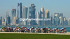 A beautiful sport in a beautiful city - the peloton starts its last lap in Doha...