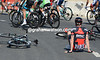 Brent Bookwalter has fallen on a roundabout - as has someone with a Specialized bike..!