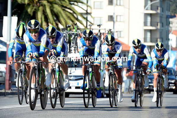 Orica-Green Edge took 9th at 45-seconds...