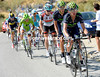 Slyvester Szmyd leads Movistar up the second-half of the Monachil, closing the gap to the escape even more...