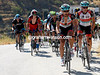 Fabian Cancellara leads the peloton on to the Monachil climb with Chris Horner his beneficiary...
