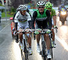 Rain has cast a new image on the Vuelta as Luis Leon Sanchez leads a five-man escape away from the start...