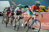 Nibali has moved to the front in the last-kilometre, his strength is there for everyone to see...!