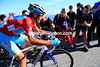 Nibali is having to dig deep as the crowds cheer him on...