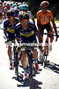 Rafal Majka leads the pursuit ahead of Nicholas Roche...