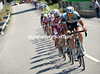 Omega-Pharma takes over from Katusha at the head of a very strung-out peloton..!