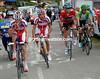 Dani Moreno take son an energy drink as he leads the offensive for Rodriguez on the Angliru...
