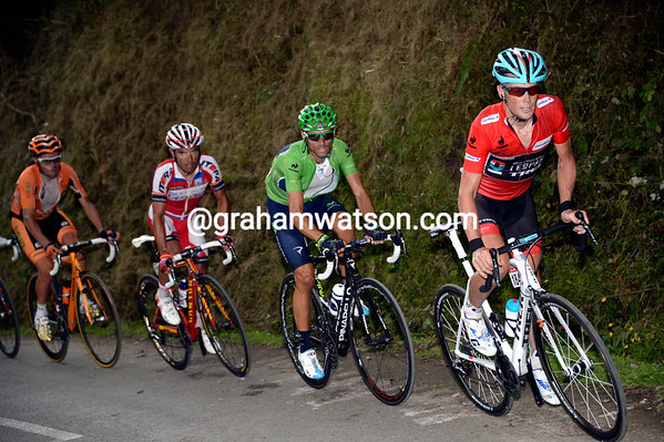 Horner leads Valverde and Rodriguez as the serious racing begins...